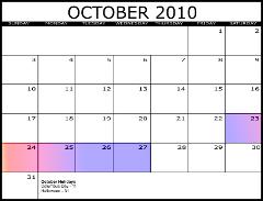 Internet Librarian 2010 Calendar