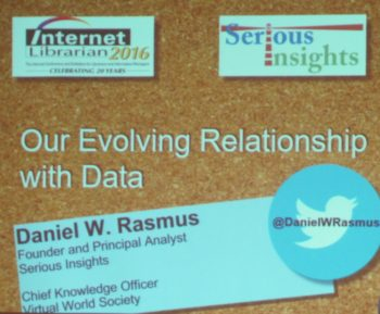 Our Evnolving Relationship With Data
