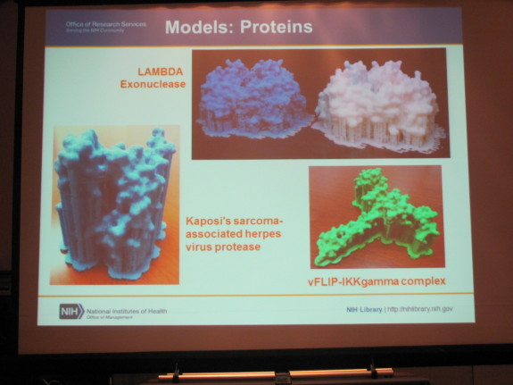 Protein Models Created Using 3D Printer